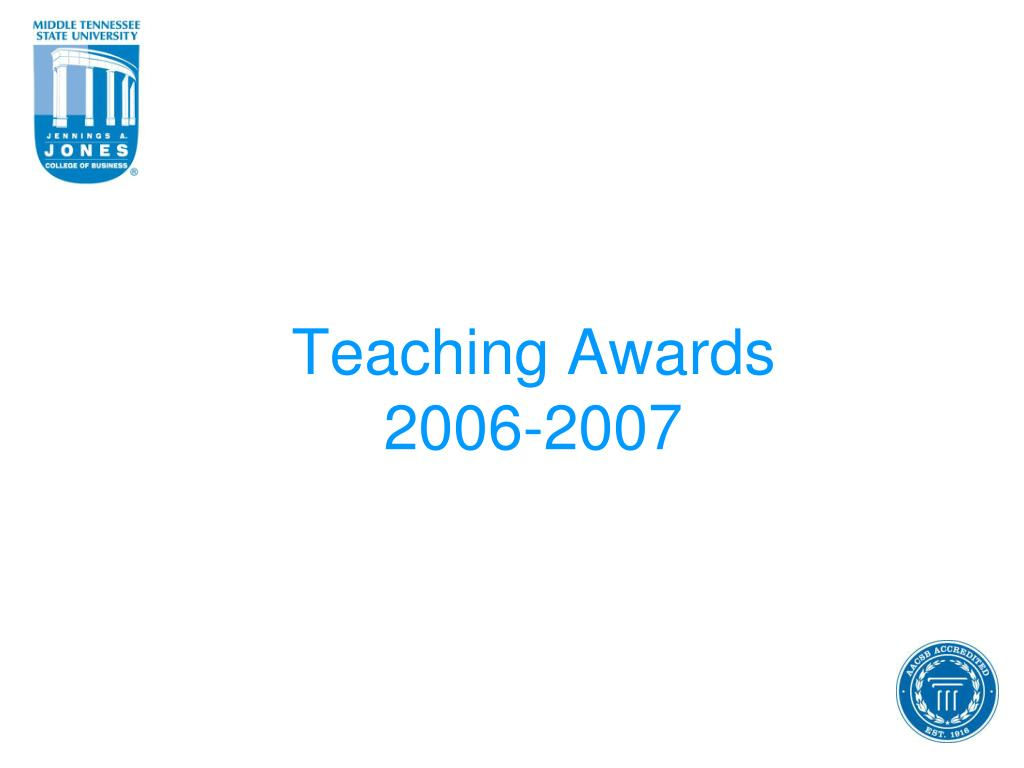 Teaching Awards
