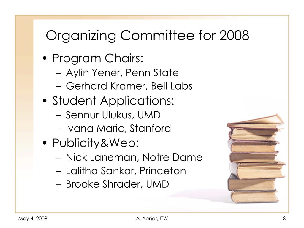 Organizing Committee for 2008