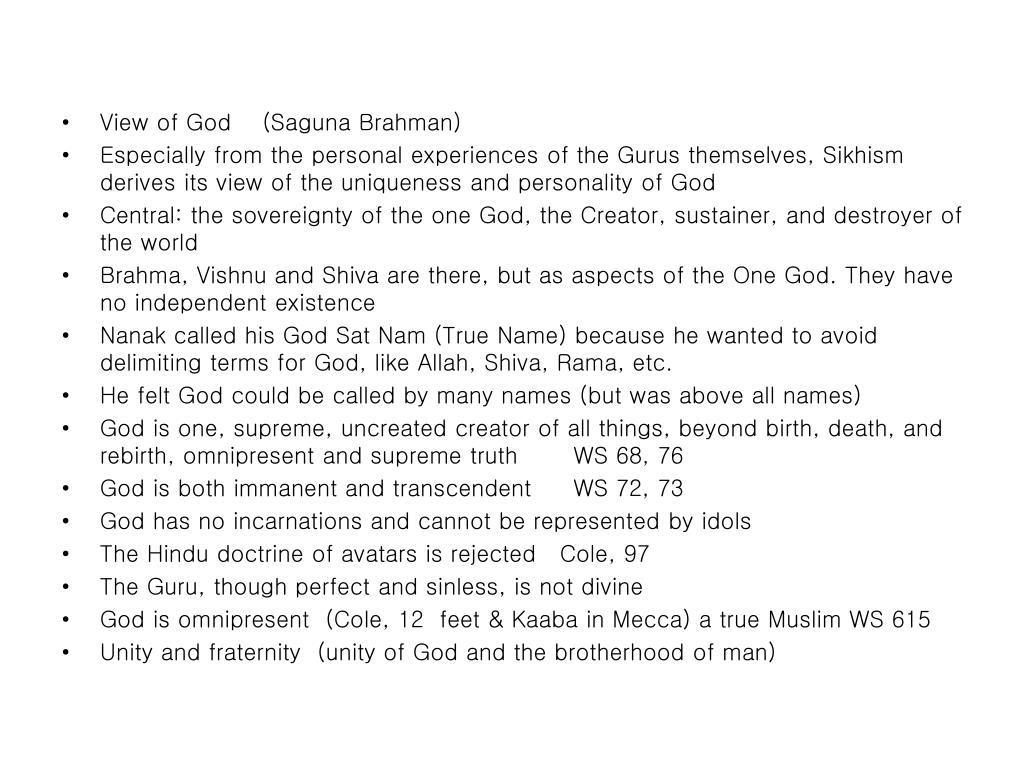 View of God    (Saguna Brahman)