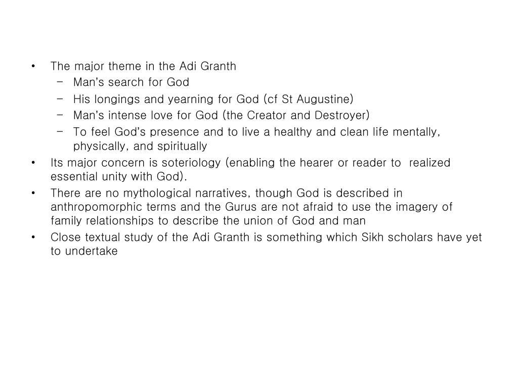 The major theme in the Adi Granth