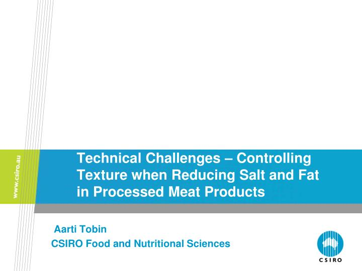 technical challenges controlling texture when reducing salt and fat in processed meat products n.