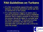 faa guidelines on turbans