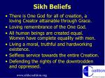 sikh beliefs