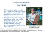 commitment to the craft learning21