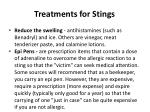 treatments for stings