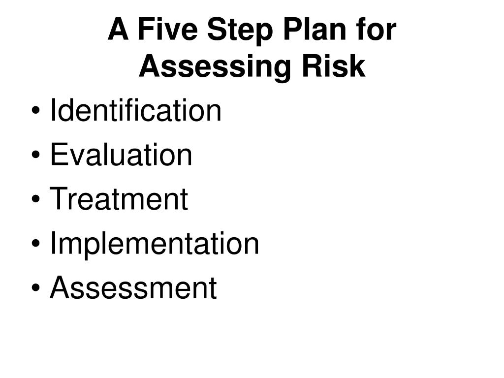 A Five Step Plan for Assessing Risk