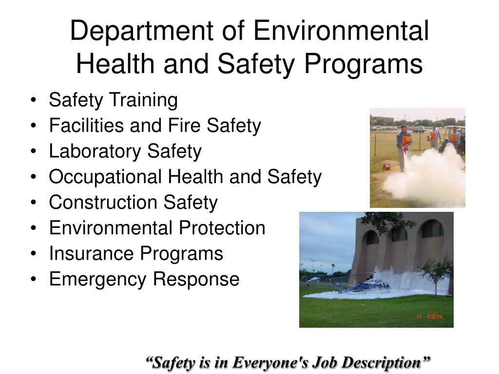 Department of Environmental Health and Safety Programs