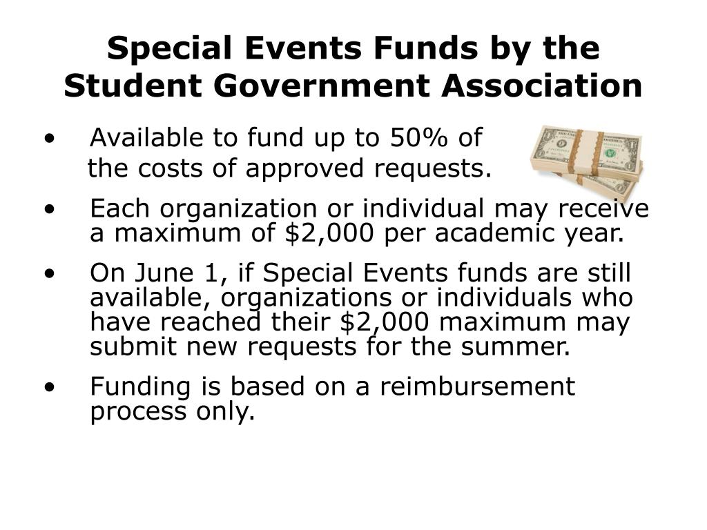Special Events Funds by the