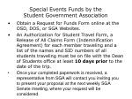 special events funds by the student government association39