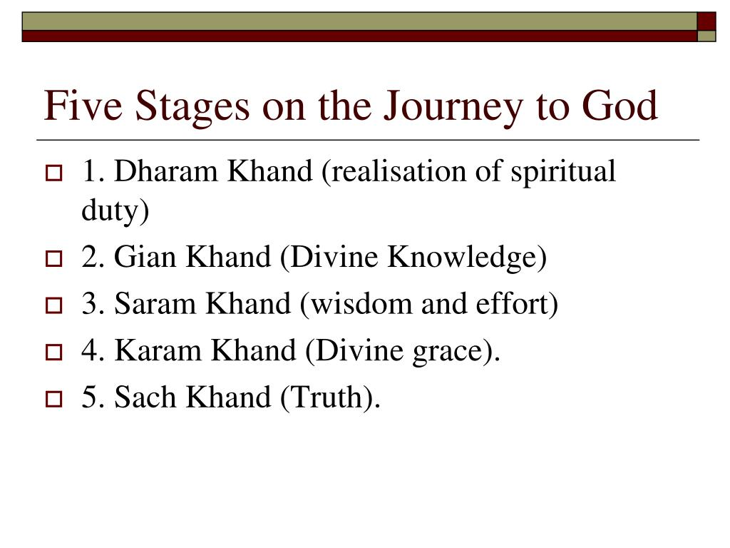 Five Stages on the Journey to God
