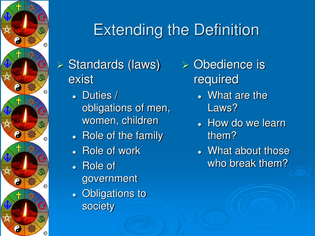 Standards (laws) exist