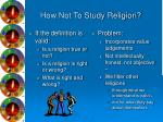 how not to study religion