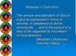 webster s definition