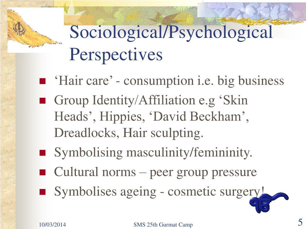 Sociological/Psychological Perspectives