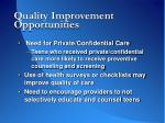 quality improvement opportunities41