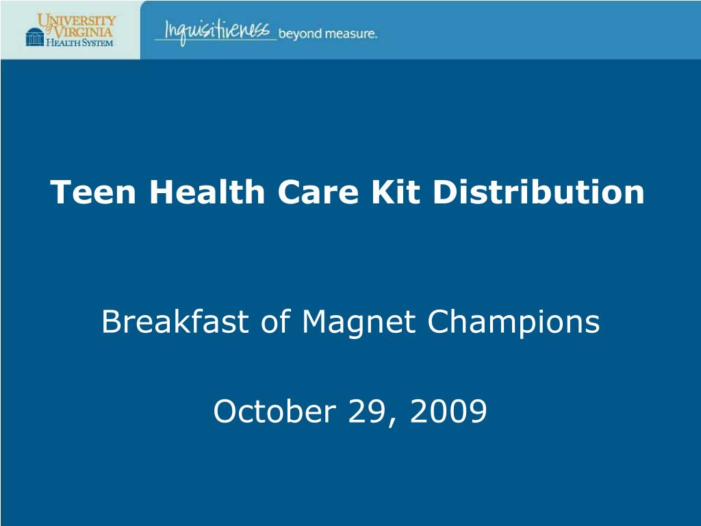 teen health care kit distribution l.