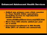 enhanced adolescent health services