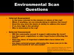 environmental scan questions