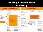 linking evaluation to planning