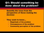 q1 should something be done about the problem