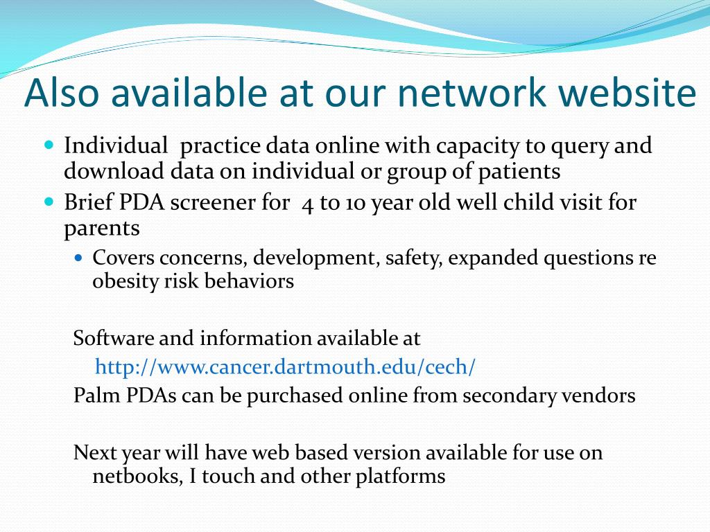 Also available at our network website