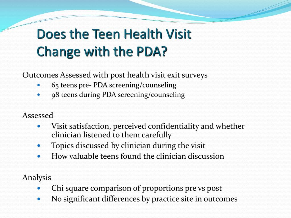 Does the Teen Health Visit