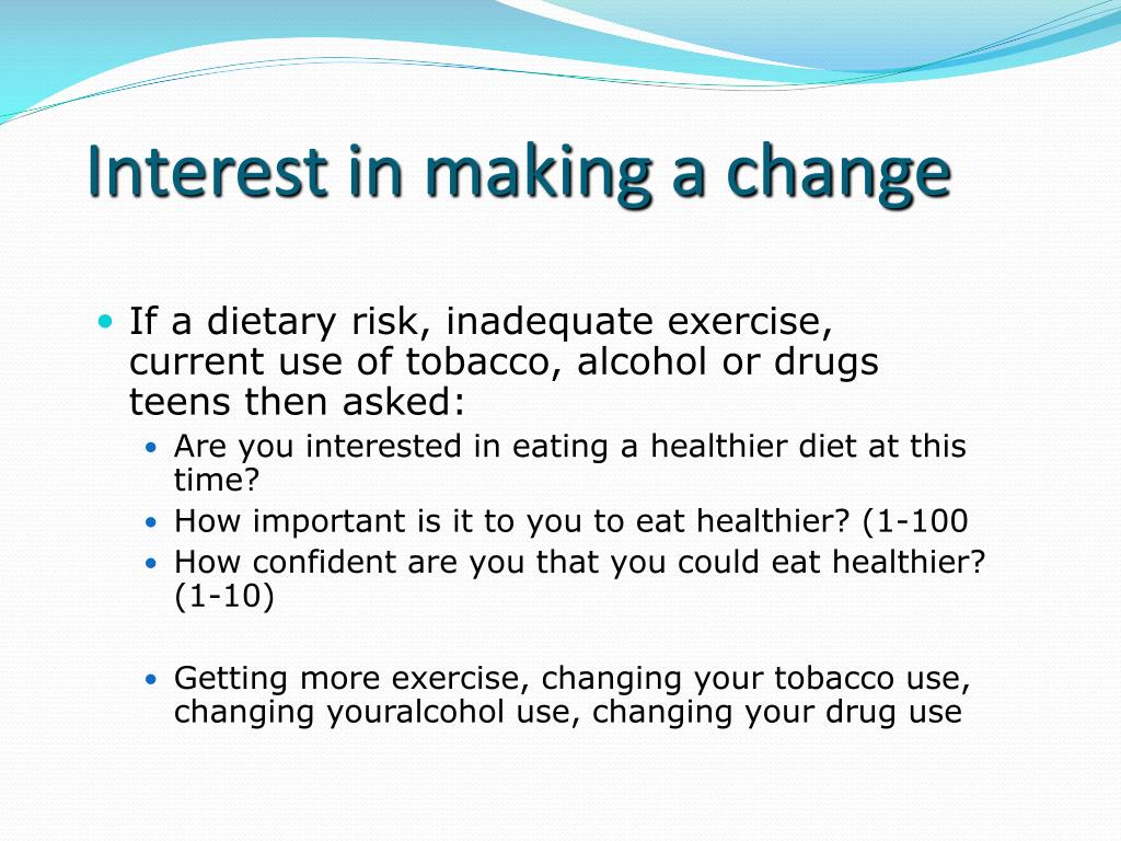 Interest in making a change