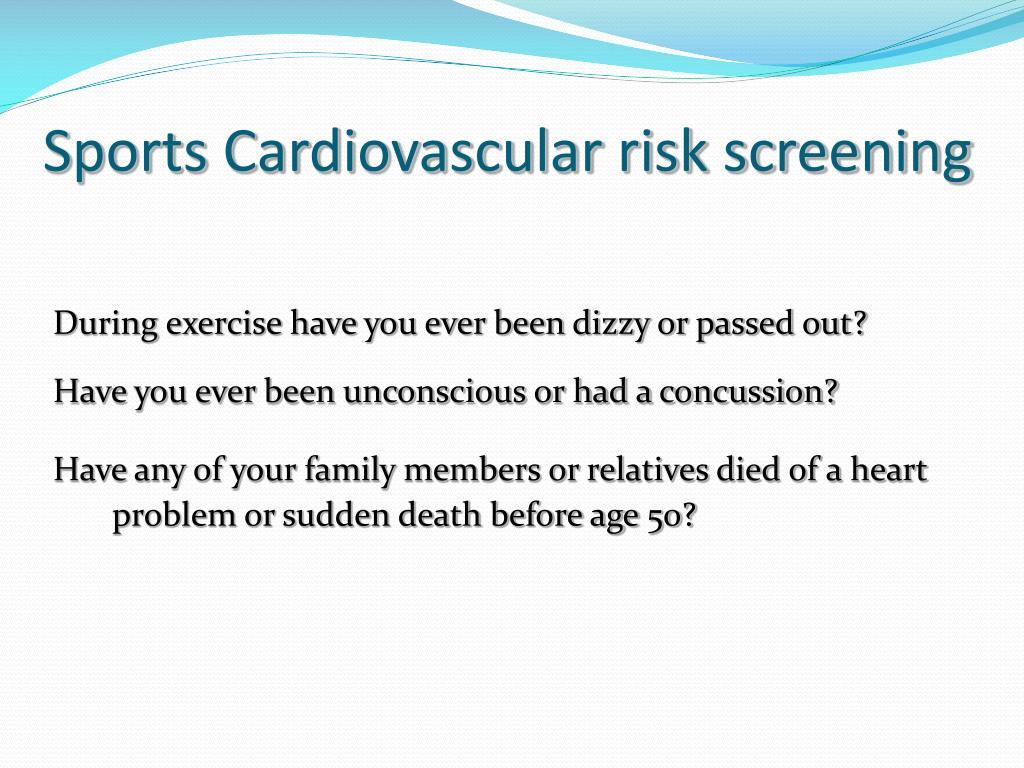 Sports Cardiovascular risk screening