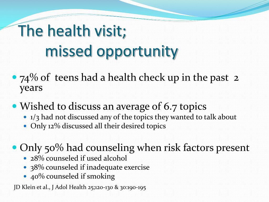 The health visit;
