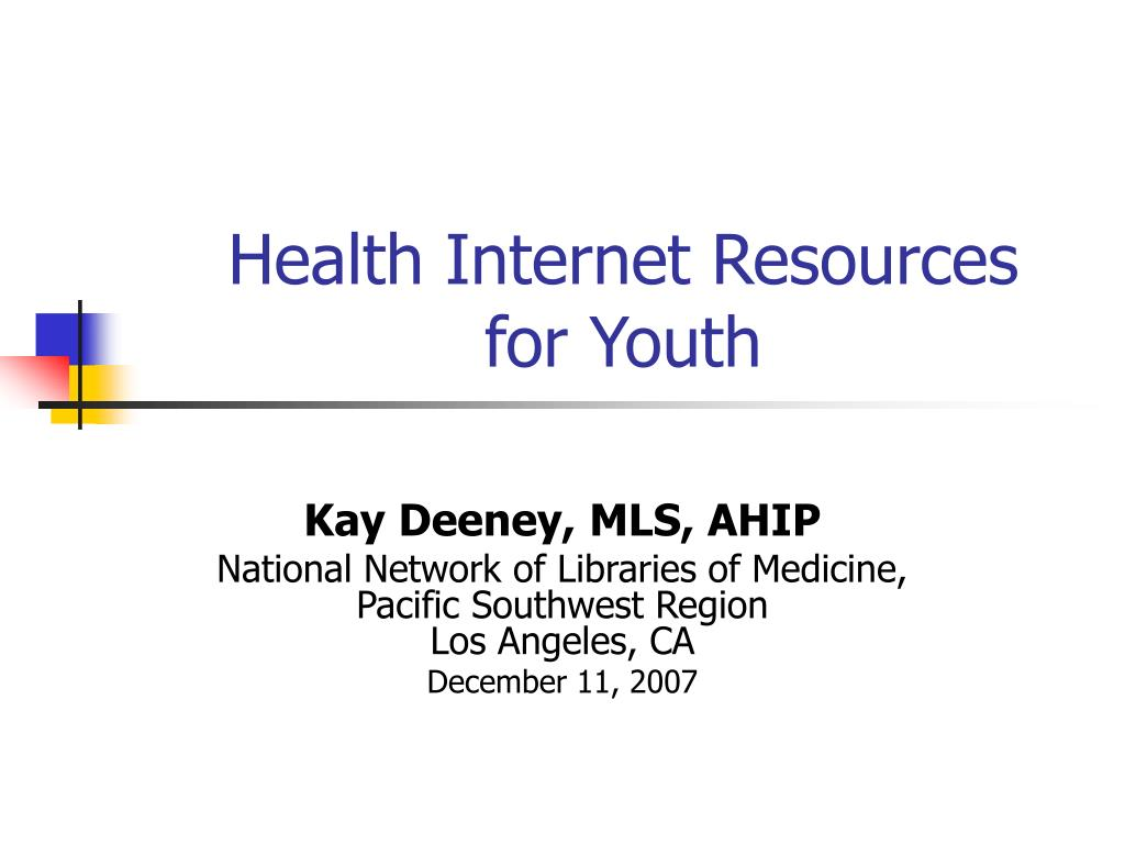 health internet resources for youth l.
