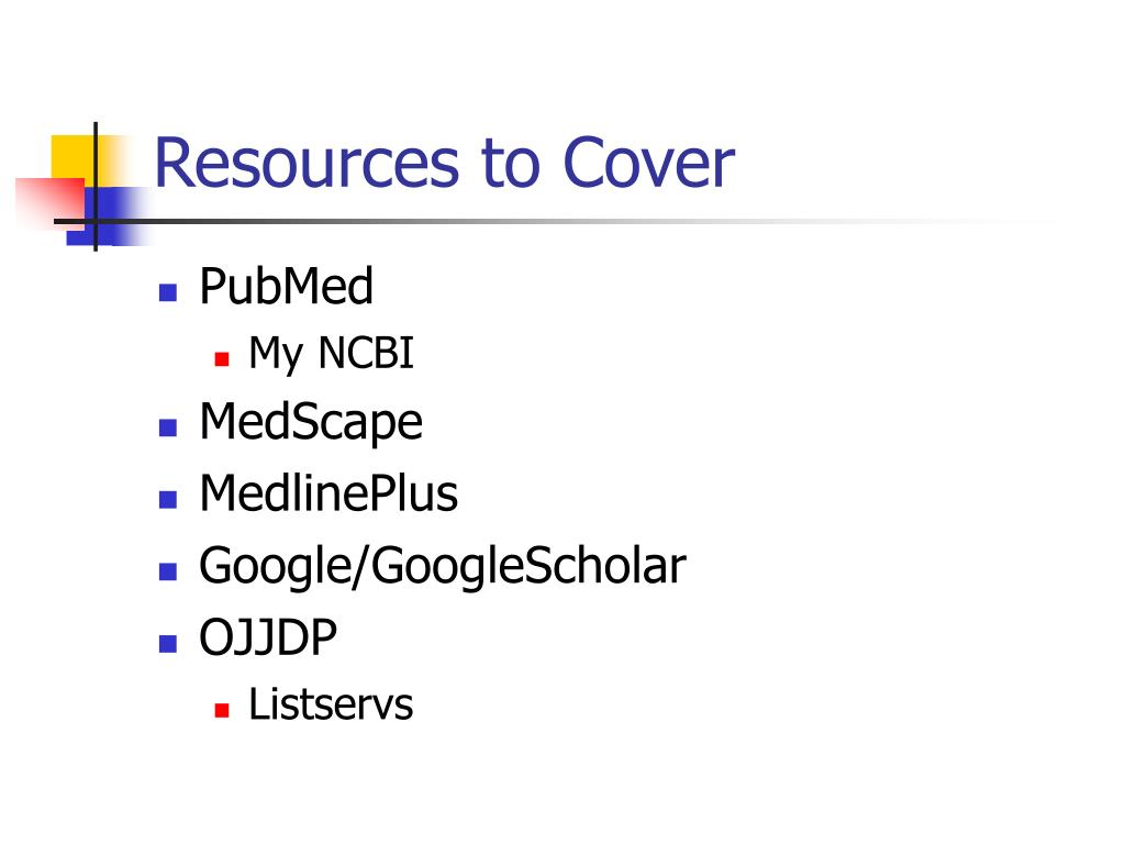 Resources to Cover