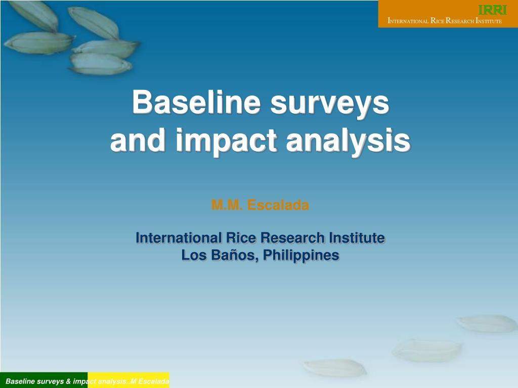 Baseline surveys
