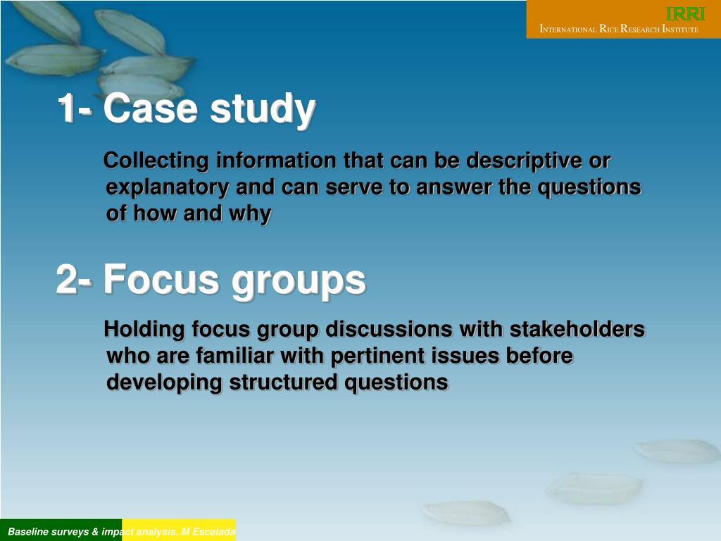1- Case study