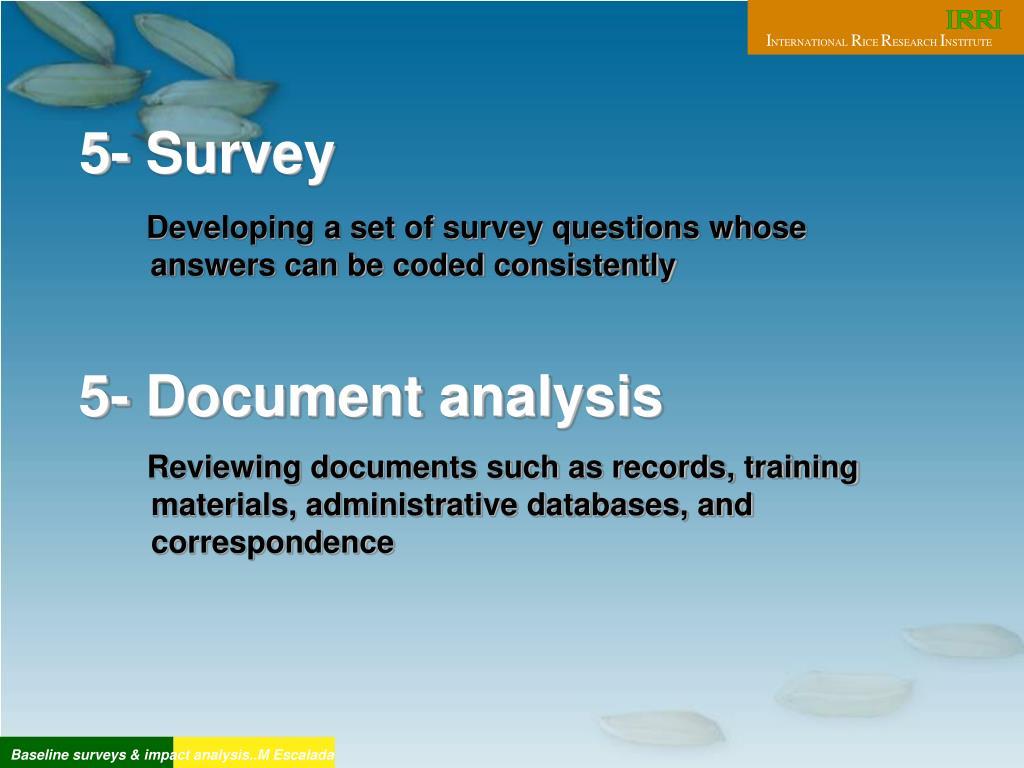 5- Survey