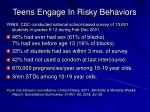 teens engage in risky behaviors