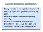 sexuality milestones preschoolers