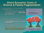direct economic costs of divorce family fragmentation