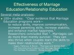 effectiveness of marriage education relationship education