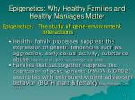 epigenetics why healthy families and healthy marriages matter