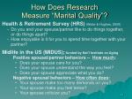 how does research measure marital quality