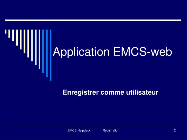 Application emcs web
