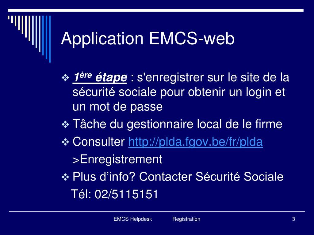 Application EMCS-web
