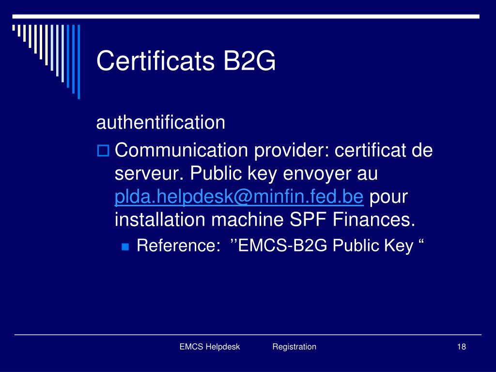 Certificats B2G