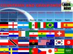 countries and groupings