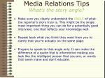 media relations tips what s the story angle