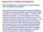 causes of 9 11 a clash of civilizations