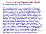 causes of 9 11 a clash of civilizations24