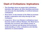 clash of civilizations implications