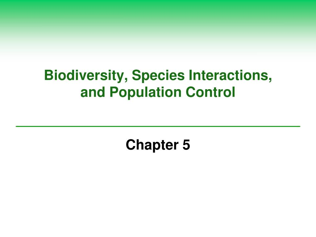 biodiversity species interactions and population control l.