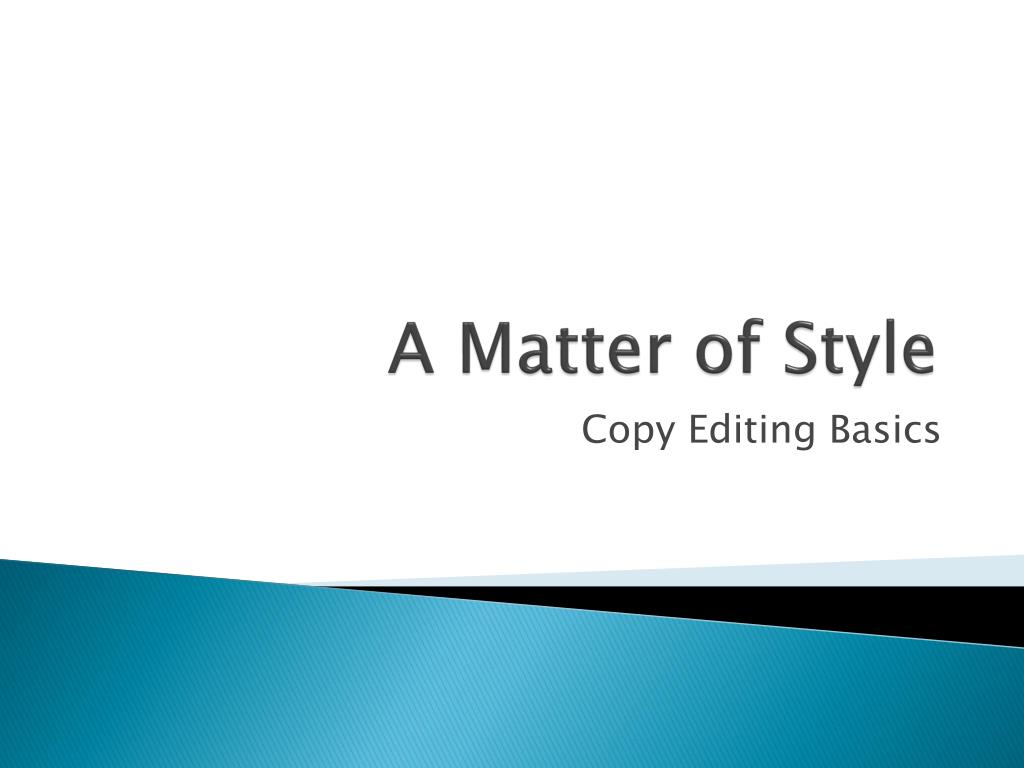a matter of style l.